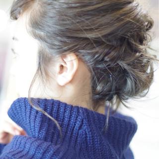 デート ミディアム 簡単ヘアアレンジ ヘアアレンジ ヘアスタイルや髪型の写真・画像