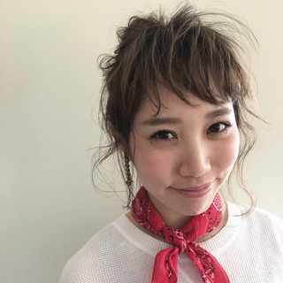 夏 ミディアム グラデーションカラー 外国人風 ヘアスタイルや髪型の写真・画像