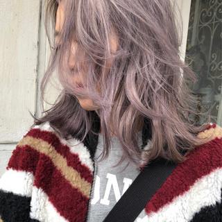 外人ヘア ラベンダー ブリーチ ブリーチカラー ヘアスタイルや髪型の写真・画像