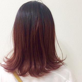 ナチュラル ピンク 透明感 フェミニン ヘアスタイルや髪型の写真・画像