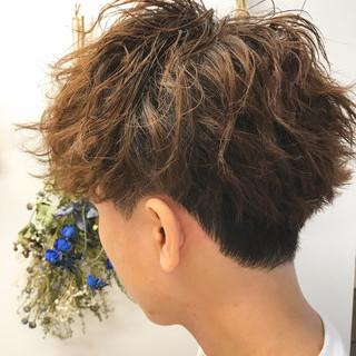 ストリート メンズショート ショート メンズパーマ ヘアスタイルや髪型の写真・画像