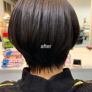 ショート デート オフィス ナチュラル ヘアスタイルや髪型の写真・画像 ヘアスタイルや髪型の写真・画像