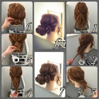 ショート ヘアアレンジ ギブソンタック 簡単ヘアアレンジ ヘアスタイルや髪型の写真・画像