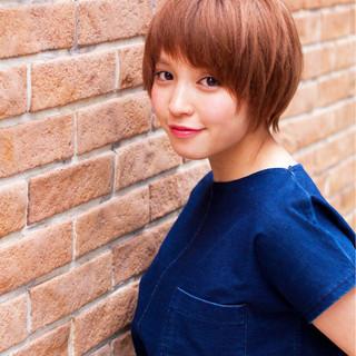 ナチュラル 簡単ヘアアレンジ デート ショート ヘアスタイルや髪型の写真・画像
