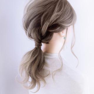 簡単ヘアアレンジ ナチュラル 結婚式 花嫁 ヘアスタイルや髪型の写真・画像