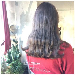 アンニュイほつれヘア 韓国ヘア セミロング ヘアアレンジ ヘアスタイルや髪型の写真・画像