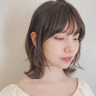 デート ナチュラル 鎖骨ミディアム ミディアム ヘアスタイルや髪型の写真・画像