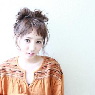 かわいい フェミニン 色気 簡単ヘアアレンジ ヘアスタイルや髪型の写真・画像
