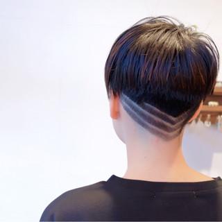 ベリーショート モード 切りっぱなし ショート ヘアスタイルや髪型の写真・画像