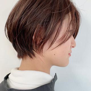 簡単スタイリング ショートボブ ショート ウザバング ヘアスタイルや髪型の写真・画像