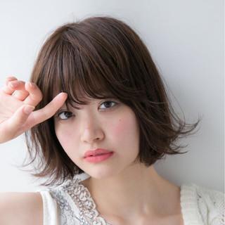 ロブ 美シルエット ひし形 大人女子 ヘアスタイルや髪型の写真・画像