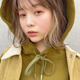 アンニュイほつれヘア ナチュラル シースルーバング ボブ ヘアスタイルや髪型の写真・画像