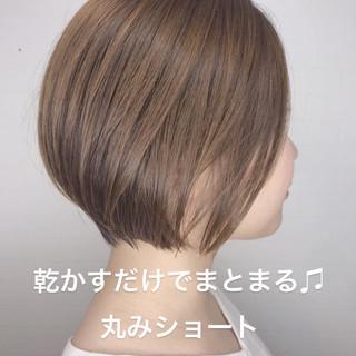 似合わせカット 丸みショート ナチュラル リアルサロン ヘアスタイルや髪型の写真・画像