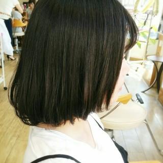 大人かわいい 黒髪 暗髪 ボブ ヘアスタイルや髪型の写真・画像