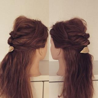 結婚式 ショート セルフヘアアレンジ セミロング ヘアスタイルや髪型の写真・画像 ヘアスタイルや髪型の写真・画像