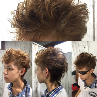 パーマ ストリート ショート アッシュ ヘアスタイルや髪型の写真・画像
