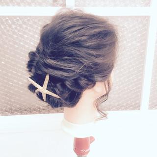 ミディアム 簡単ヘアアレンジ 大人かわいい ショート ヘアスタイルや髪型の写真・画像