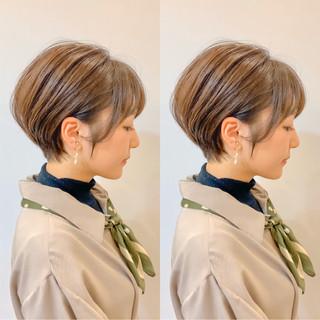 ショートヘア スタイリング動画 切りっぱなしボブ ショート ヘアスタイルや髪型の写真・画像
