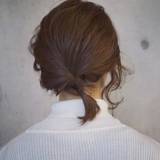 簡単ヘアアレンジ くるりんぱ ショート ヘアアレンジ ヘアスタイルや髪型の写真・画像