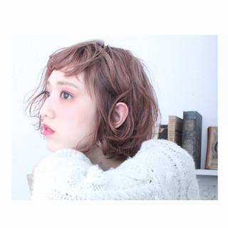 外国人風 色気 ボブ 冬 ヘアスタイルや髪型の写真・画像