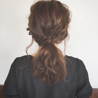 大人かわいい ヘアアレンジ デート ミディアム ヘアスタイルや髪型の写真・画像 ヘアスタイルや髪型の写真・画像
