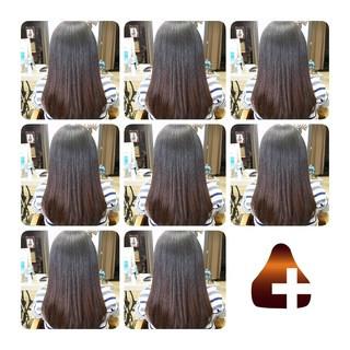 トリートメント セミロング ナチュラル 美髪 ヘアスタイルや髪型の写真・画像