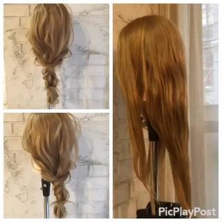 ゆるふわ ヘアアレンジ セミロング ショート ヘアスタイルや髪型の写真・画像