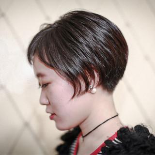 外国人風 ショート ボブ 色気 ヘアスタイルや髪型の写真・画像