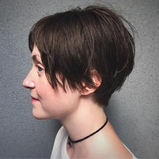 デート モード リラックス ショート ヘアスタイルや髪型の写真・画像