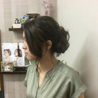 ヘアアレンジ ナチュラル 編み込み 結婚式 ヘアスタイルや髪型の写真・画像 ヘアスタイルや髪型の写真・画像