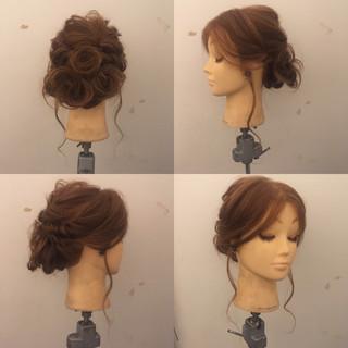 くるりんぱ 結婚式 パーティ ヘアアレンジ ヘアスタイルや髪型の写真・画像 ヘアスタイルや髪型の写真・画像