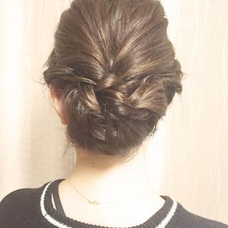 ショート 簡単 ヘアアレンジ ロング ヘアスタイルや髪型の写真・画像