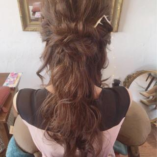 ヘアアレンジ エレガント ロング 上品 ヘアスタイルや髪型の写真・画像