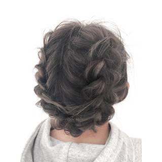 編み込み モテ髪 ガーリー 愛され ヘアスタイルや髪型の写真・画像