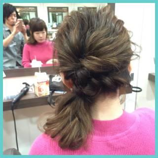 ヘアアレンジ ポニーテール 大人かわいい ナチュラル ヘアスタイルや髪型の写真・画像