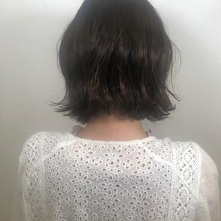 ボブ パーマ デート ナチュラル ヘアスタイルや髪型の写真・画像