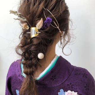 アンニュイほつれヘア 卒業式 簡単ヘアアレンジ セミロング ヘアスタイルや髪型の写真・画像