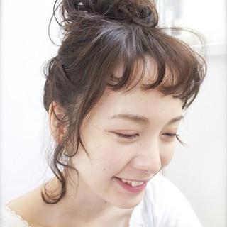 簡単ヘアアレンジ ミディアム ショート ヘアアレンジ ヘアスタイルや髪型の写真・画像