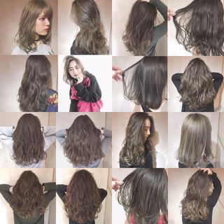 コンサバ イルミナカラー 外国人風 ロング ヘアスタイルや髪型の写真・画像