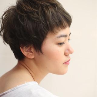 小顔 ベリーショート ボブ ヘアアレンジ ヘアスタイルや髪型の写真・画像 ヘアスタイルや髪型の写真・画像