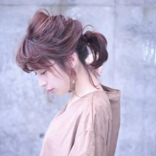 大人かわいい ナチュラル ポニーテール マルサラ ヘアスタイルや髪型の写真・画像 ヘアスタイルや髪型の写真・画像