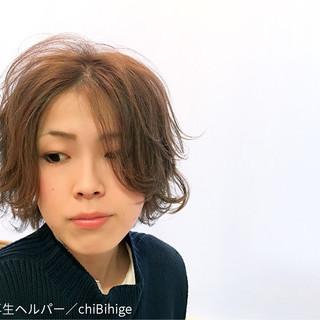 ボブ 大人女子 ストリート 外ハネ ヘアスタイルや髪型の写真・画像