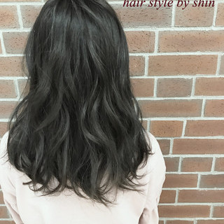 外国人風 ロング ニュアンス ナチュラル ヘアスタイルや髪型の写真・画像