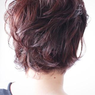 アッシュバイオレット ロブ ナチュラル バイオレットアッシュ ヘアスタイルや髪型の写真・画像