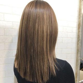 艶髪 ロング エレガント 縮毛矯正ストカール ヘアスタイルや髪型の写真・画像