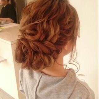 パーティ ドレス ロング 大人かわいい ヘアスタイルや髪型の写真・画像
