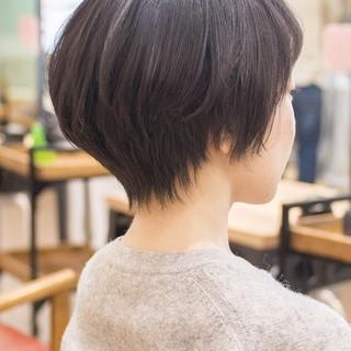 ショートボブ 大人かわいい ショートカット コンサバ ヘアスタイルや髪型の写真・画像