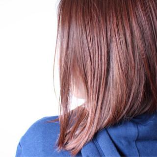 ピンク モーブ ラベンダー ボブ ヘアスタイルや髪型の写真・画像