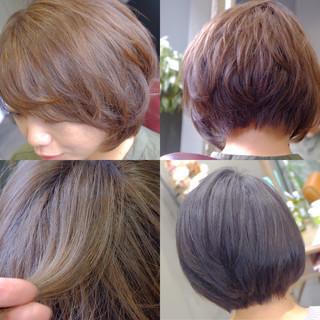 暗髪 アッシュ ボブ 色気 ヘアスタイルや髪型の写真・画像
