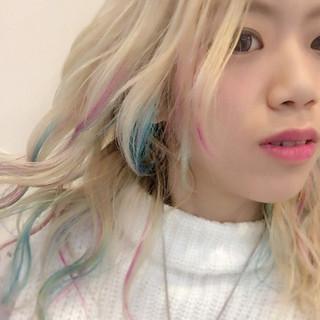 ブルー ストリート 外国人風カラー ゆるふわ ヘアスタイルや髪型の写真・画像